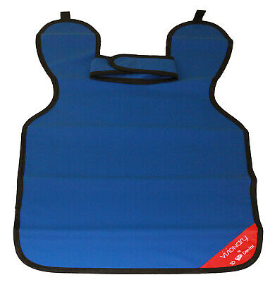 House Brand Xac-abl X-ray 0.25 Medical Grade Lead Apron Adult With Collar Blue