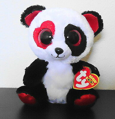 Ty Beanie Boos Valentina the Panda Bear 6
