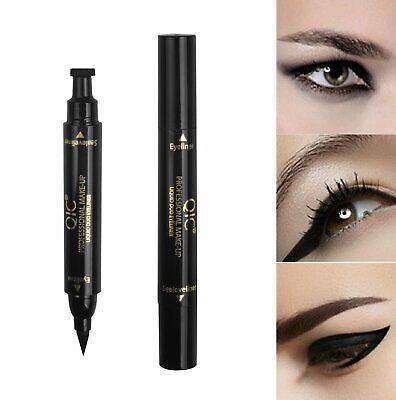 2in1 Winged Stamp Eyeliner Waterproof Makeup Cosmetic Eye Liner Pencil Liquid US Eyeliner