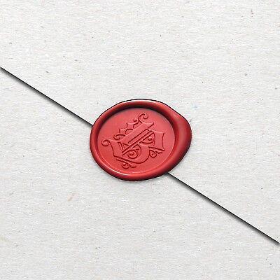 Monogram Wax (Wax Seal Stamp Kit, Monogram Seals, Gothic Font, Vintage Old English)