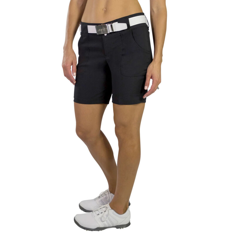 JoFit Belted 7.5 in Womens Golf Shorts