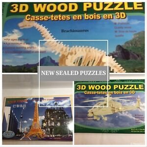3D Wood Puzzle Model Kits Check Photos For Sellection