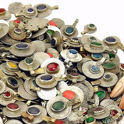 80 real Jeweled COINS Tribal Belly Dance Kuchi Tribe - MIXED Colors