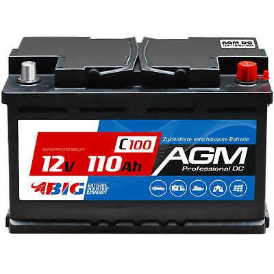 Gebraucht, BIG Versorgungsbatterie AGM 110Ah 12V Camping Boot Solar Batterie GEL 100Ah 90Ah gebraucht kaufen  Dinklage