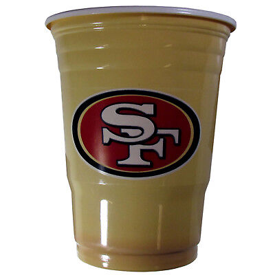 SAN FRANCISCO 49ERS PLASTIC GAMEDAY CUPS 18OZ 18CT SOLO TAILGATE PARTY - 49ers Party