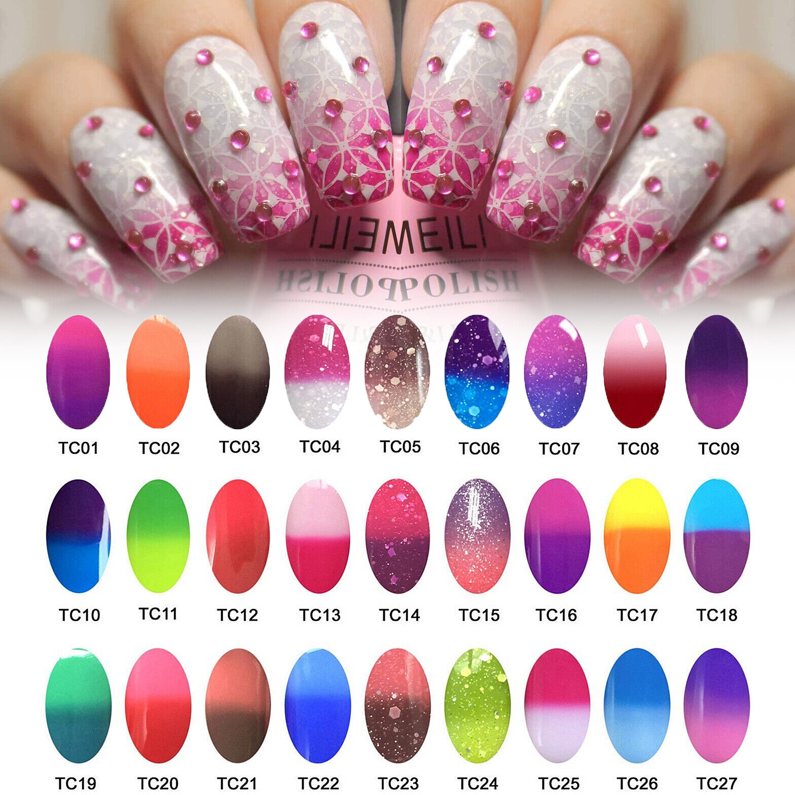AIMEILI Temperature Color Change Gel Nail Polish Soak Off UV