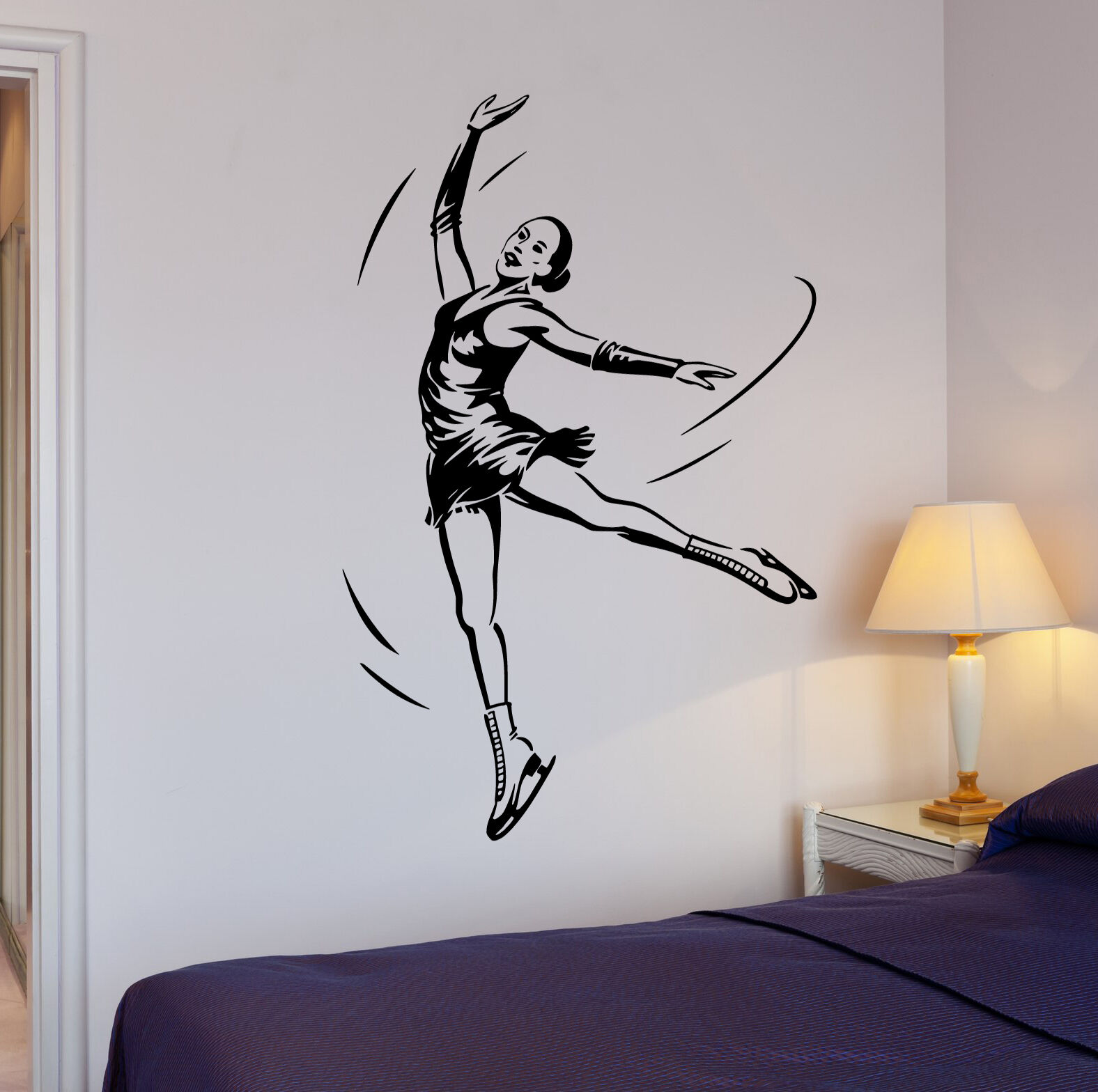 Wall decals stickers home decor home furniture diy wall stickers figure skating dance ice sports girl vinyl decal ig1970 amipublicfo Images