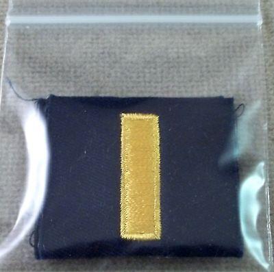 US Navy Cloth Collar Rank Insignia Ensign - New Pair