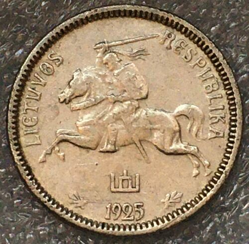 1925 Lithuania Silver 1 Litas Coin, free combined shipping.