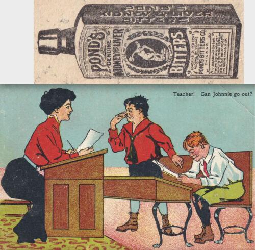 Victorian School Teacher Ponds Kidney & Liver Bitters 1800