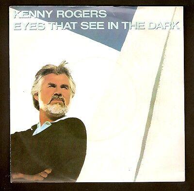 """Kenny Rogers - Eyes that see in the dark Bw Buried Treasure 7"""" vinyl 1983"""