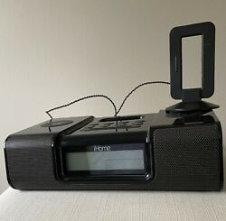 iHome iH9 Dual Alarm Clock Speaker System With Remote