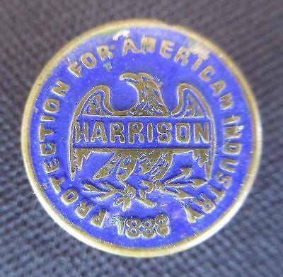 1888 Benjamin Harrison Political Campaign Lapel Button or Stud