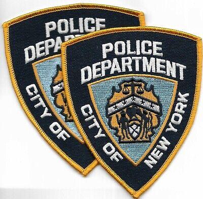 ANGEBOT - 2 Stück USA Police Patch Polizei Abzeichen New York Department  N.Y.C