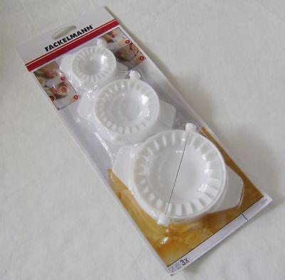 Neu 3 Ravioli Hersteller Klappbar Drücken Set Pasta Werkzeug Gerät