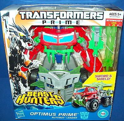 Transformers Optimus Prime Prime Beast Hunters Nib Voyager Class Autobot