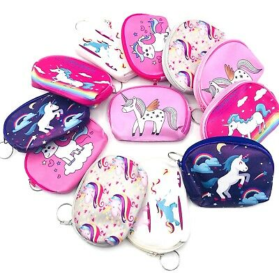 12-Unicorn Theme Girls Candy Bags Filler Coin Purses Keychain Party FAVORS](Candy Bags Purses)
