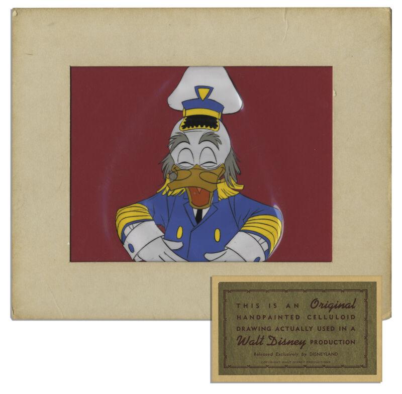 Original Disney Cel of Ludwig Von Drake Donald Duck Uncle