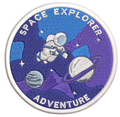 Space Explorer Astronaut Embroidered Patch Iron/Sew-On Applique NASA Planets