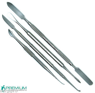 Dental Lab Wax Modelling Carver Plaster Alignate Mixing Spatulas Set Of 4