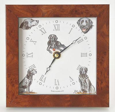 Bryn Parry Studios Labrador Retriever Dog Desk Clock Made in England