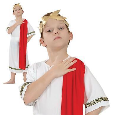 Child Roman Emperor Costume Greek Toga Boys Book Week Fancy Dress