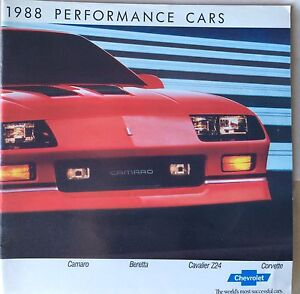 1988 Chev Performance Cars Dealer Brochure
