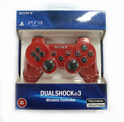 Red PS3 PlayStation 3 DualShock 3 Wireless SixAxis Remote Controller GamePad US