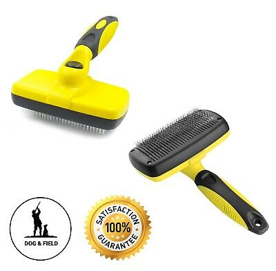 Self Cleaning Professional Pet Brush Best Cat & Dog Grooming Comb on The (The Best Cat Brush)
