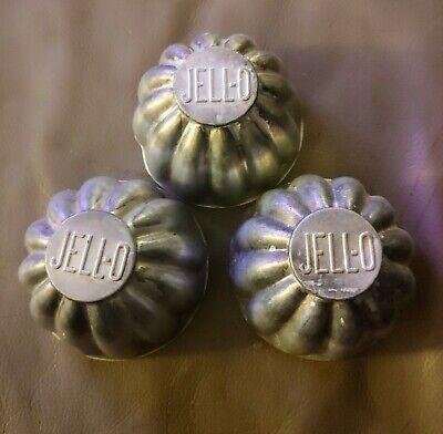 3 Vintage Aluminum Jello Molds/Tins/Mini Tarts Jell-O