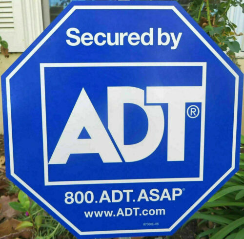 NEW ADT SECURTY YARD SIGN AND 4 FREE STICKERS WATERPROOF NO POLE