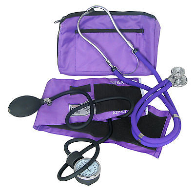 Dixie Ems Blood Pressure And Sprague-rappaport Stethoscope Combo Kit Purple