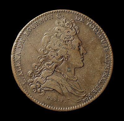 Frankreich, Medaille/Jeton Marine 1702, L. Alex. de Bourbon Comte de Toulouse