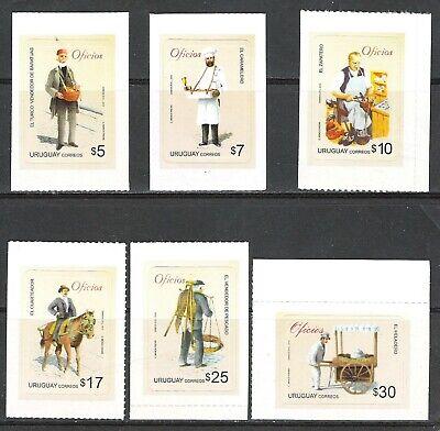 Uruguay 2010 6 Valores Oficios