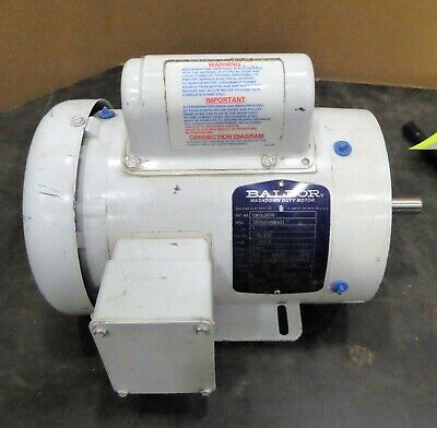Baldor Motor Cwdl3509 1hp 3450rpm 1ph 60hz 56c 3520l Tefc F1