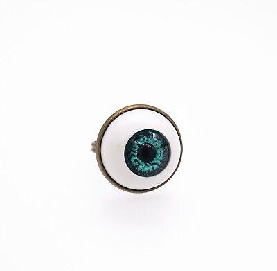 handgemacht Schrullig Augapfel ring goth Schmuck (Halloween Kostüme Gemacht)
