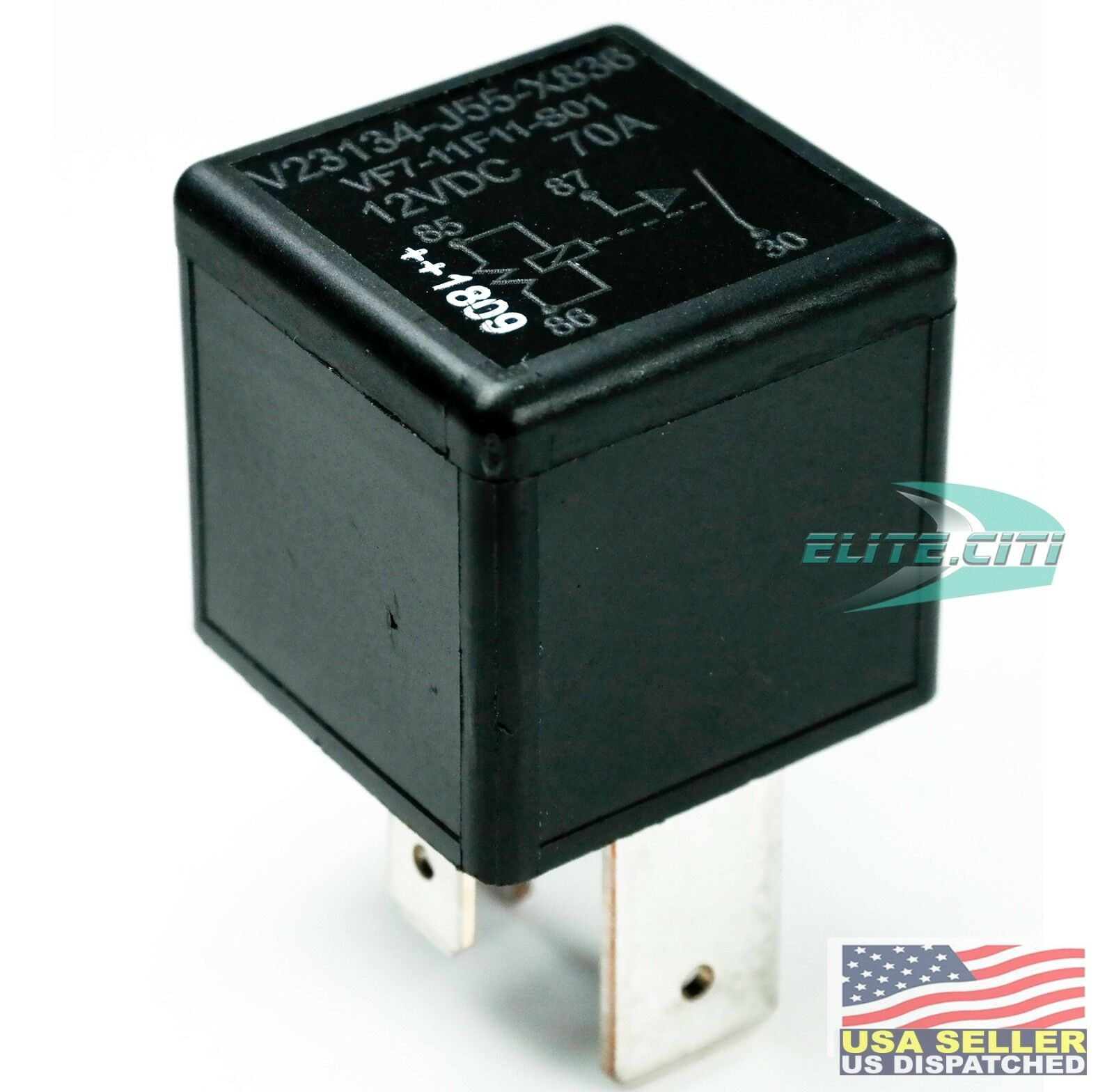 TE Connectivity / Tyco VF7-11F11-S01 Automotive Relay 12V, Plug-in, 4-1393306-6