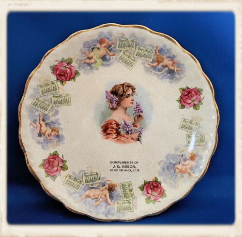 Antique Gibson Girl Calendar Plate 1911 McNichol China