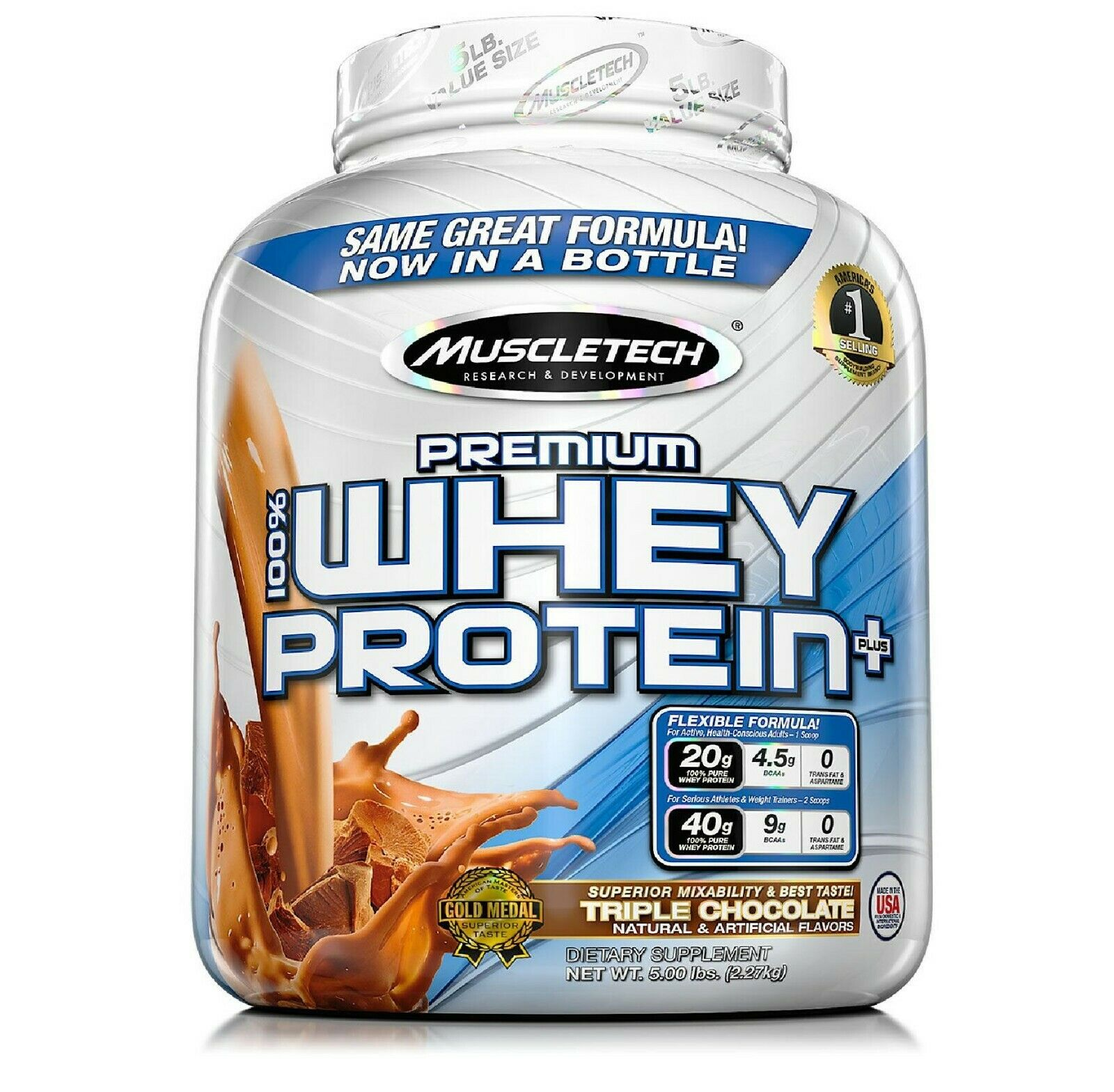 MuscleTech Premium 100% Whey Protein, Chocolate