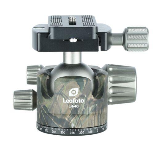 LEOFOTO LH-40 CAMO 40mm Low Profile Ball Head Arca / RRS Compatible