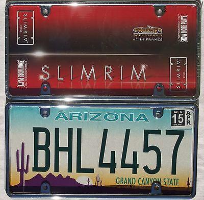 Chrom Metall Rahmen USA Kennzeichen Nummernschild License Plate U.S. Size Frame