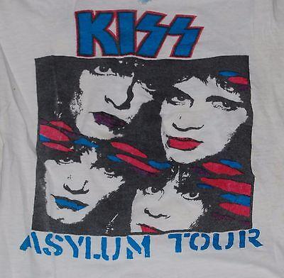KISS Asylum Tour Parking Lot Concert T-Shirt M Gene Simmons Eric Carr Bruce Paul