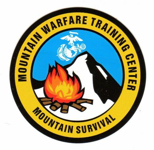 Marine Mountain Warfare Training Center Mountain Survival Decal