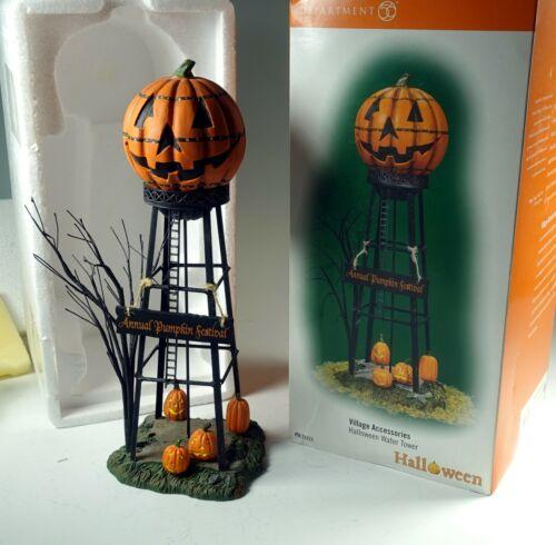 Dept 56 Snow Village Halloween, Pumpkin Water Tower