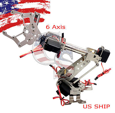 R3 Fully Assembled 7 Axis Mechanical Robotic Arm Clamp For Arduino  Raspberry