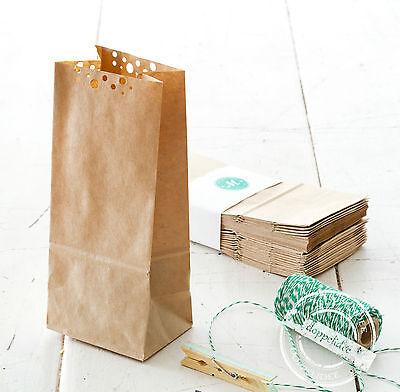 10 Geschenktüten Papiertüten Polka Dots Tüten Papier Kraftpapier Bodenbeutel