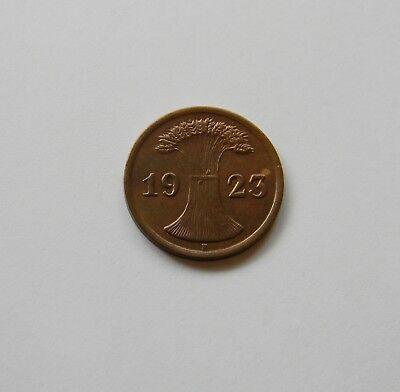 WEIMAR: 2 Rentenpfennig 1923 F, J. 307, vorzüglich   I.