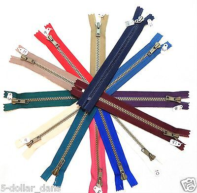 3 YKK Vislon High Quality ZIppers 6 inch selection of 11 colors pants (3 Ykk Pants)