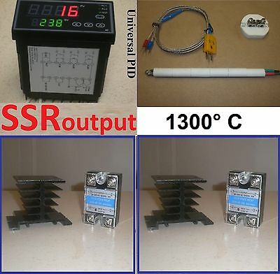 Ramp Soak Temperature Controller Kiln 2 Ssr Thermocouple Programmable Fr 220v