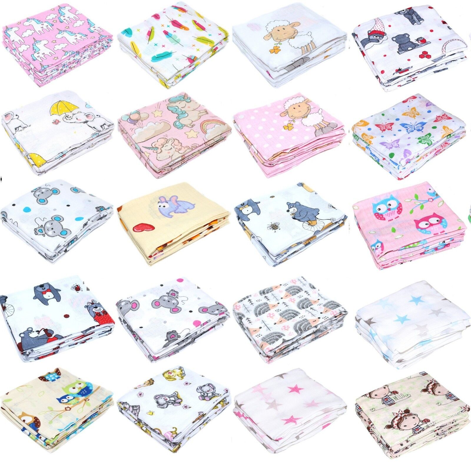 Spucktücher für Baby Kind Spucktuch  Stoffwindeln Mullwindel -5 Stück